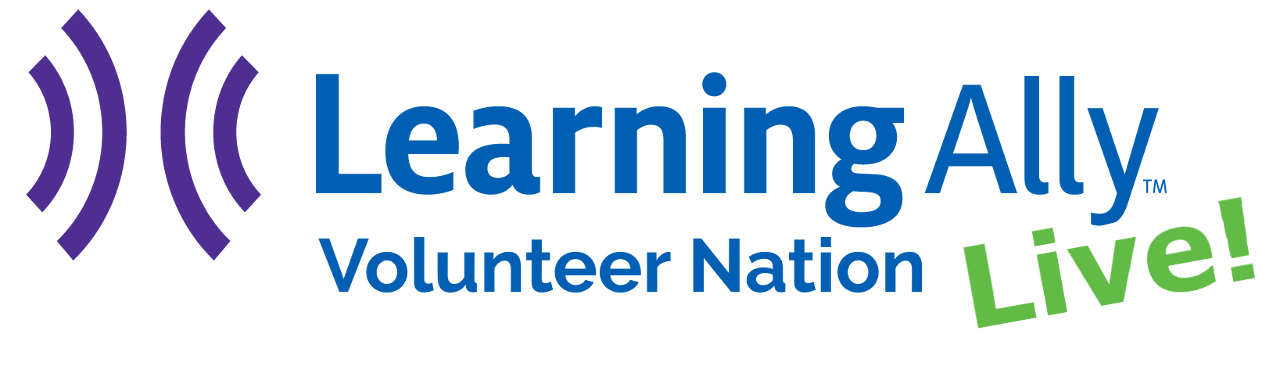 Learning Ally Volunteer Nation Live with Learning Ally Logo
